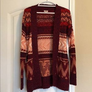 Sweaters - Thick pocketed cardigan (multi)